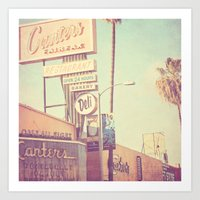 Los Angeles. Canters Del… Art Print
