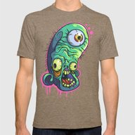 IZombie Mens Fitted Tee Tri-Coffee SMALL