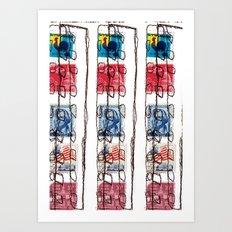 Stitched Buildings Art Print
