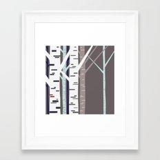 birch trees Framed Art Print