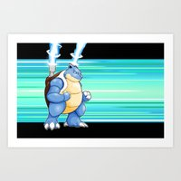 Water Pocket Monster #009 Art Print
