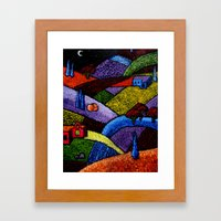 New Mexico Landscape painting Framed Art Print
