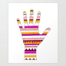 Hand 2 Art Print