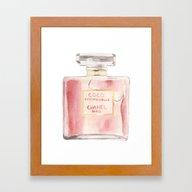 Chanel Mademoiselle Perf… Framed Art Print