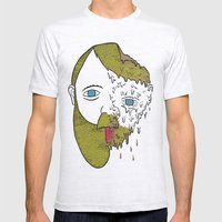 Face Melter Print Mens Fitted Tee Ash Grey SMALL