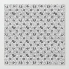 I Love You, I know. Star Wars Pillow Art in Gray Canvas Print