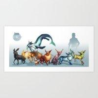 Pokemon-Eevee Art Print