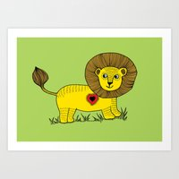 Petit lion Art Print
