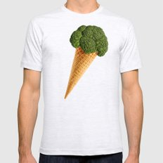 broccoli ice cream Mens Fitted Tee Ash Grey SMALL