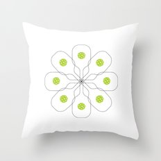 Pickleball Paddle Ball Pattern Throw Pillow