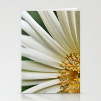 Stationery Card featuring White Gerbera Daisy. by Becky Dix