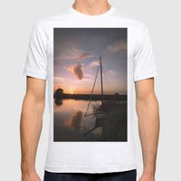 River Thurne Sunset Mens Fitted Tee Ash Grey SMALL