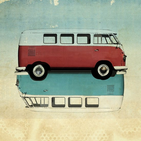 Kombi Ying and Yang Canvas Print