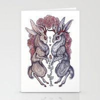 hearts Stationery Cards featuring Rare Hearts by Caitlin Hackett