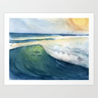 Warm Waves Art Print