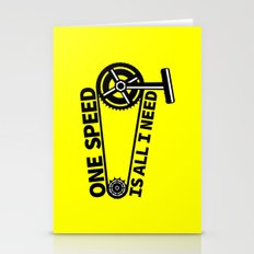 Single Speed Bike Stationery Cards