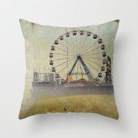 Seaside Heights New Jersey  Throw Pillow