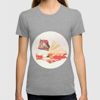 Marie Antoinette II Womens Fitted Tee Tri-Grey SMALL