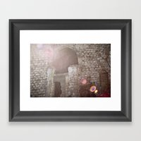 someone used to live here Framed Art Print