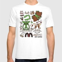 Dress Up Gizmo And Greml… Mens Fitted Tee White SMALL