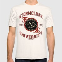 Stormcloak University(Sk… Mens Fitted Tee Natural SMALL