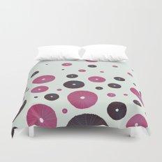 Sea's Design - Urchin Skeleton (Pink & Black) Duvet Cover