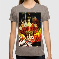Russian Royalty Womens Fitted Tee Tri-Coffee SMALL