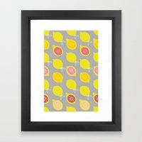 Lemony Framed Art Print