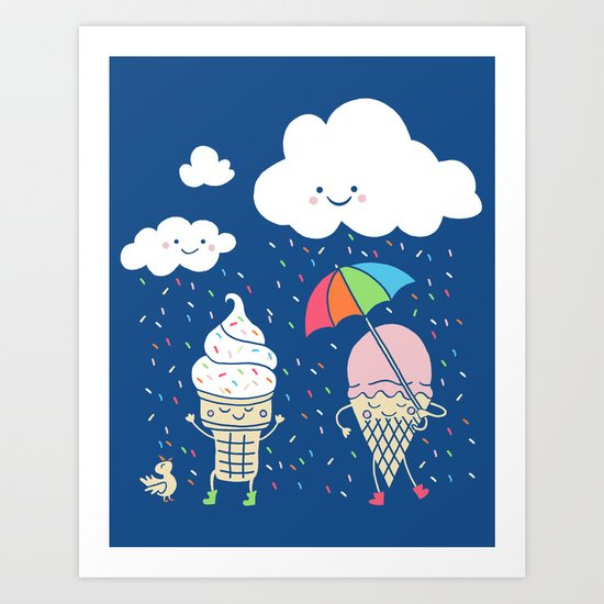 Cloudy With A Chance Of Sprinkles Art Print By Monica