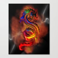 Dragon Two Canvas Print
