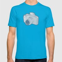 dslr camera retro Mens Fitted Tee Teal SMALL