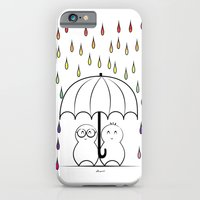 iPhone & iPod Case featuring Mimos under Rainbow rain by Nhani · Graphic Design & Photography