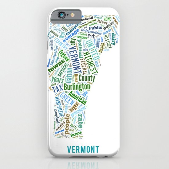 Word Cloud - Vermont iPhone & iPod Case