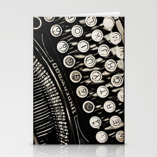 Underwood  typewriter  Stationery Card