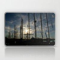 sailboat on the sunrise Laptop & iPad Skin
