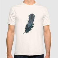 Feather - Enjoy The Diff… Mens Fitted Tee Natural SMALL