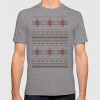 Efinity Pattern Red Mens Fitted Tee Athletic Grey SMALL