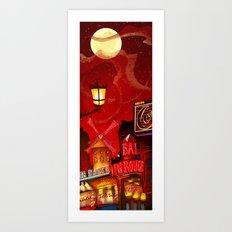 Paris in Red Art Print