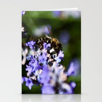 Bee on lavander Stationery Cards