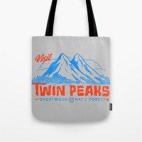 Visit Twin Peaks (orange) Tote Bag