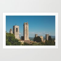 San Gimignano, Italy Art Print