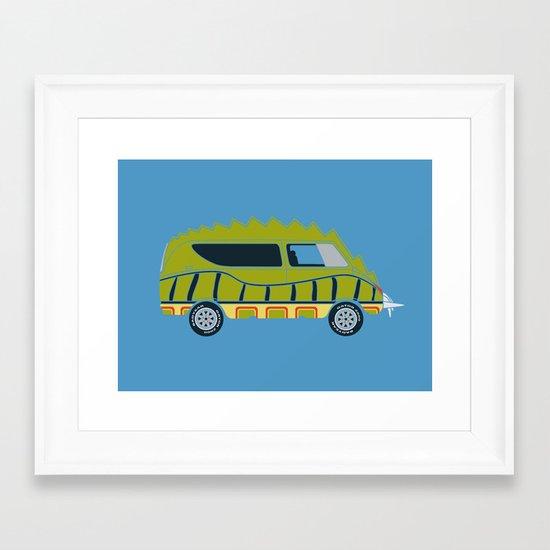 Death Race 2000 Alligator Van Framed Art Print