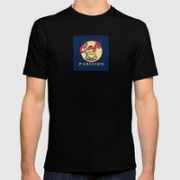 cafe Parisien Mens Fitted Tee Black SMALL