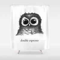 double espresso Shower Curtain