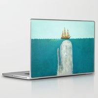 red Laptop & iPad Skins featuring The Whale  by Terry Fan