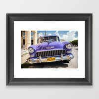 Purple Chevy Framed Art Print