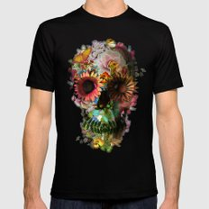 SKULL 2 Black Mens Fitted Tee SMALL