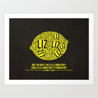 30 Rock - Liz Lemon Art Print