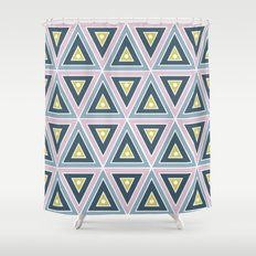 Triangle Geometric Patte… Shower Curtain
