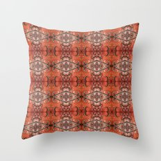 Scarlet Cloister Throw Pillow